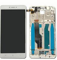 Дисплей (экран) для Xiaomi Redmi Note 4X + тачскрин, белый, с передней панелью