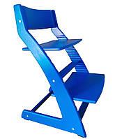 Стілець растишка з підставкою для ніг Синій, фото 1
