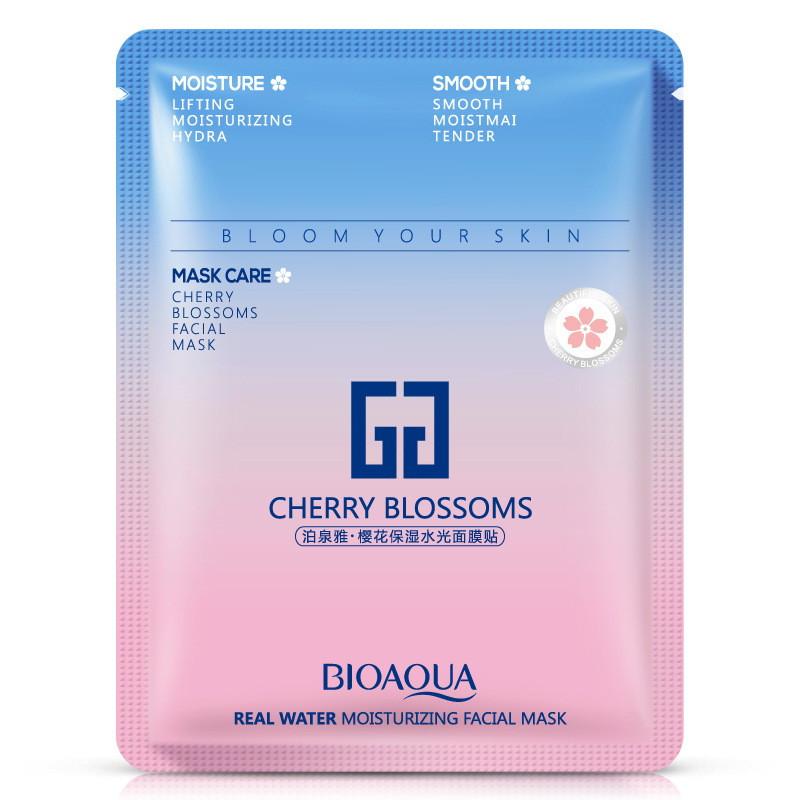 Маска-салфетка для лица увлажняющая и подтягивающая с сакурой IMAGES Cherry Blossoms Mask (30г)