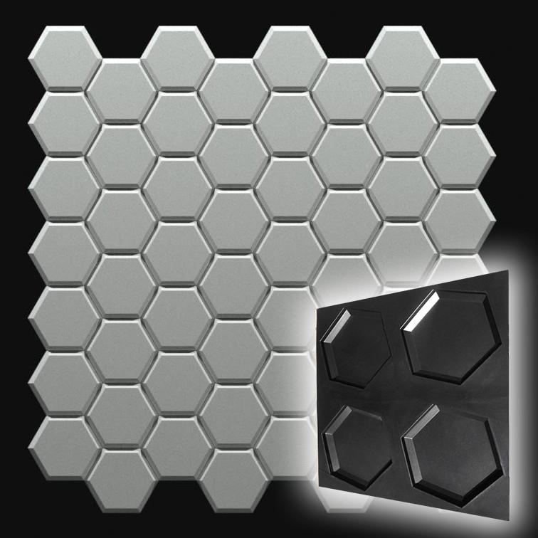 """Форма """"Стоун №2"""" для шестигранной декоративной гипсовой плитки"""