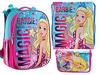 "Набор: рюкзак ортопедический + сумка для обуви + пенал H-25 ""Barbie"" «Yes», 556177-1"