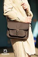 Сумка из натуральной кожи ручная работа Boorbon 633 подарок для нее женская маленькая сумка коричневая кожа