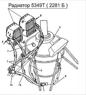 Воздушно-масляный радиатор вмр 5349 т ( вмр 2281 б ) Ми-8, фото 2