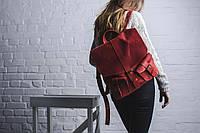 Рюкзак натуральная кожа ручная работа Boorbon 506 большой рюкзак красный для ноутбука для туристов рюкзак