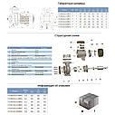 """Насос центробежный 1.1кВт Hmax 12,5м Qmax 900л/мин 3"""" LEO 3.0 (775289), фото 2"""