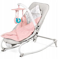 Кресло - качалка Kinderkraft Felio 3in1 (розовый), фото 1
