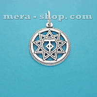 Чертог Тура серебряный славянский кулон-оберег