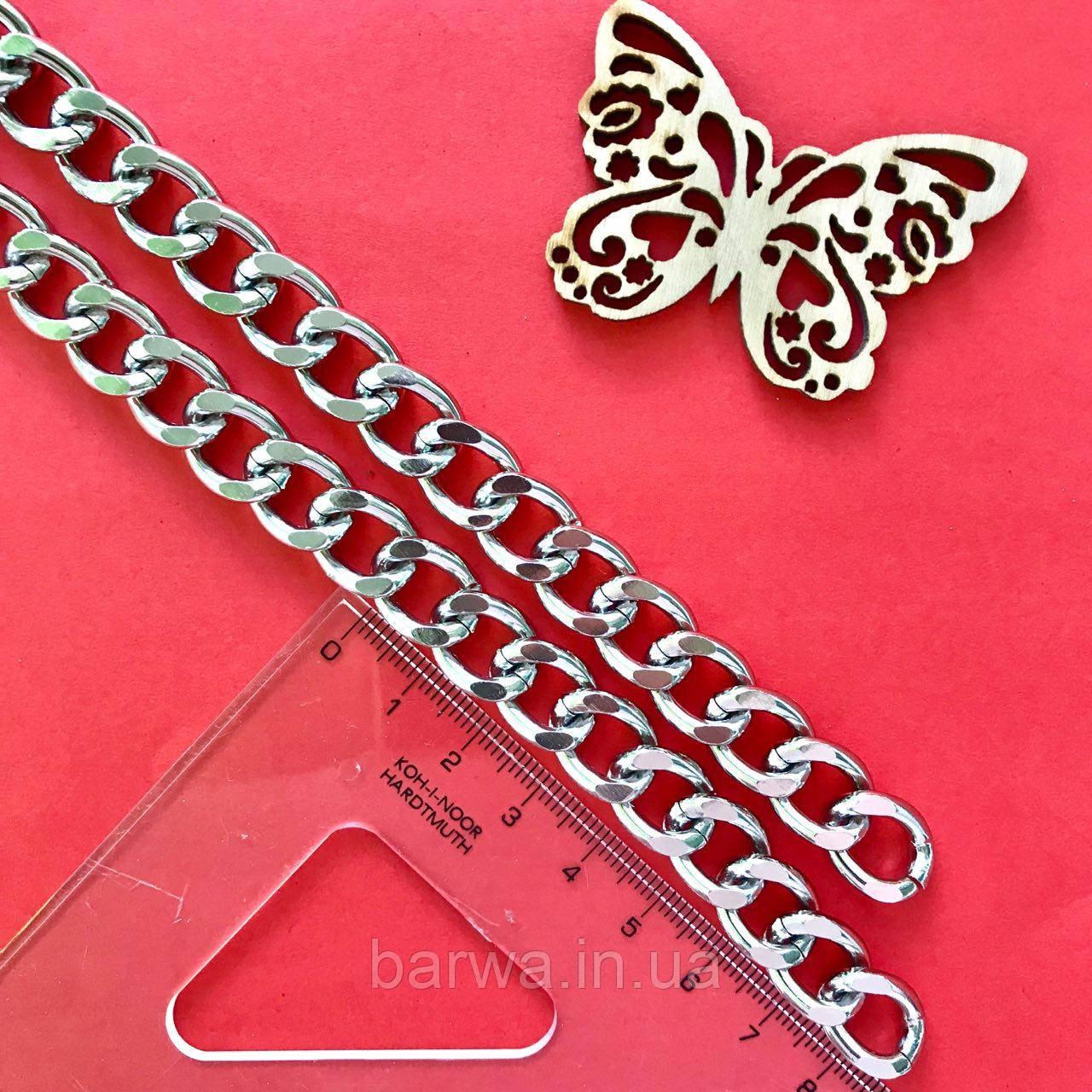 Цепочка декоративная, цвет серебро, 13 мм