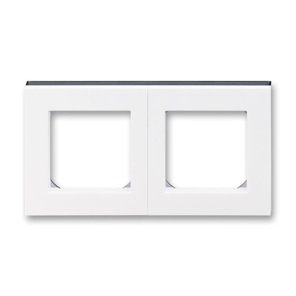 Рамка 2 постовая, белый/дымчатый черный 3901H-A05020 62, Levit Elektro-Praga ABB