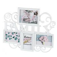 "Фотоколлаж ""Family"" (47.2x38x2 см) на 4 фото (218I), фото 1"