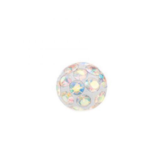 Шарик сменная часть с мультицветными кристаллами 165102
