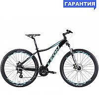 """Велосипед 27.5"""" Leon XC LADY DD 2019 (черно-мятный с голубым)"""