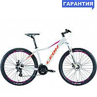 """Велосипед 27.5"""" Leon XC LADY DD 2019 (бело-оранжевый с малиновым)"""