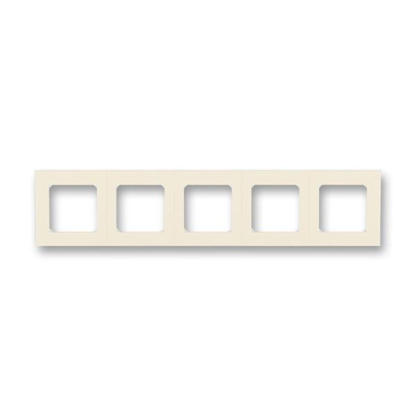 Рамка 5 постовая, слоновая кость/белый 3901H-A05050 17, Levit Elektro-Praga ABB