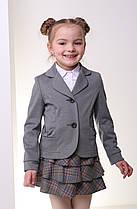 Жакет школьный серый трикотажный