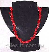Бусы Коралл красный Скол 8-15х3-8 мм 48 см