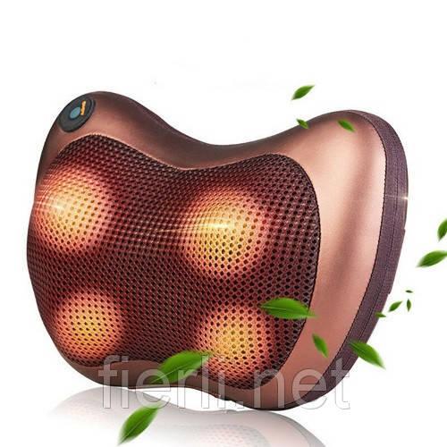 Массажная подушка для дома и машины инфракрасный роликовый массажёр Massage pillow  GHM-8028