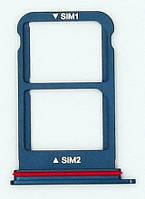 Трей держатель сим карты, Midnight Blue Huawei Mate 10 Pro (BLа-L29с) (51661HHJ), оригинал