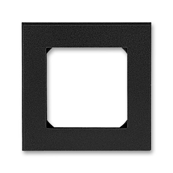 Рамка 1 постова, онікс/димчастий чорний 3901H-A05010 63, Levit Elektro-Praga ABB