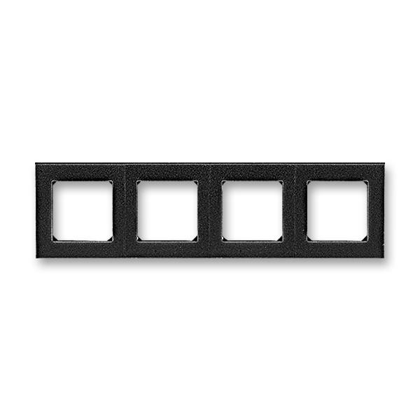 Рамка 4 постова, онікс/димчастий чорний 3901H-A05040 63, Levit Elektro-Praga ABB