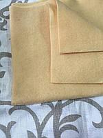 Фетр мягкий бежевый с розовинкой, 45х50 см