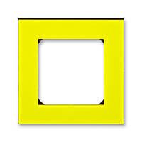 Рамка 1 постовая, желтый/дымчатый черный 3901H-A05010 64, Levit Elektro-Praga ABB