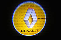 Подсветка дверей авто / лазерная проeкция логотипа Renault | Рено