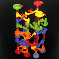 Детский 3Д конструктор лабиринт Marble race на 91 дет. Развивающий трек с шариками