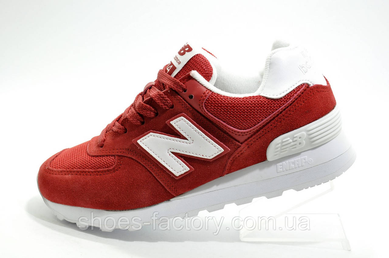 Женские кроссовки в стиле New Balance WL574CNC Classic Suede, Red