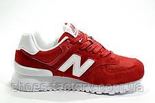 Женские кроссовки в стиле New Balance WL574CNC Classic Suede, Red, фото 3