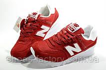 Женские кроссовки в стиле New Balance WL574CNC Classic Suede, Red, фото 2