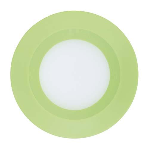 LED светильник встр. FERON AL525 3W круг, зеленый 240Lm 5000K 90*26mm