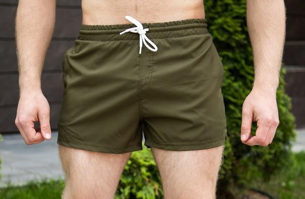"Мужские пляжные шорты Pobedov swimming shorts ""Pool day"" Khaki (S, L, XL размеры)"