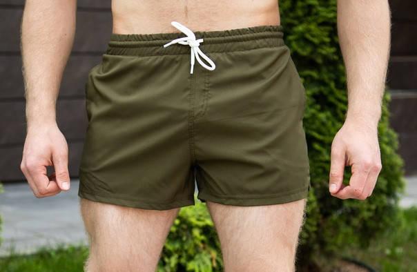 "Мужские пляжные шорты Pobedov swimming shorts ""Pool day"" Khaki (S, L, XL размеры), фото 2"