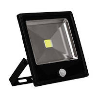 LED прожектор с датчиком FERON 50W белый 6400K IP65 4000Lm