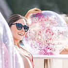Надувний м'яч Transparent Glitter Beach Balls Intex 58070NP, фото 2