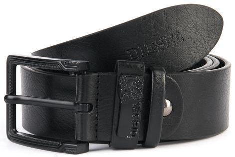 Мужской кожаный ремень PODIUM 402340 black 4*110-115 см