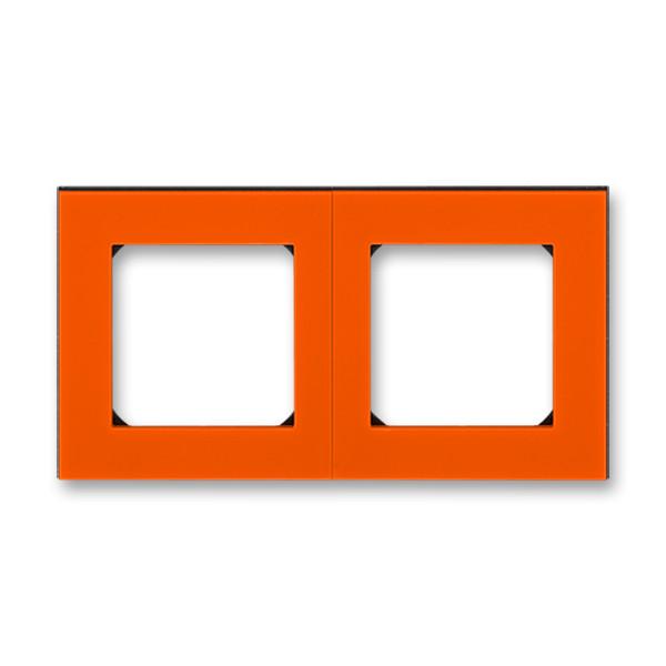 Рамка 2 постовая, оранжевый/дымчатый черный 3901H-A05020 66, Levit Elektro-Praga ABB