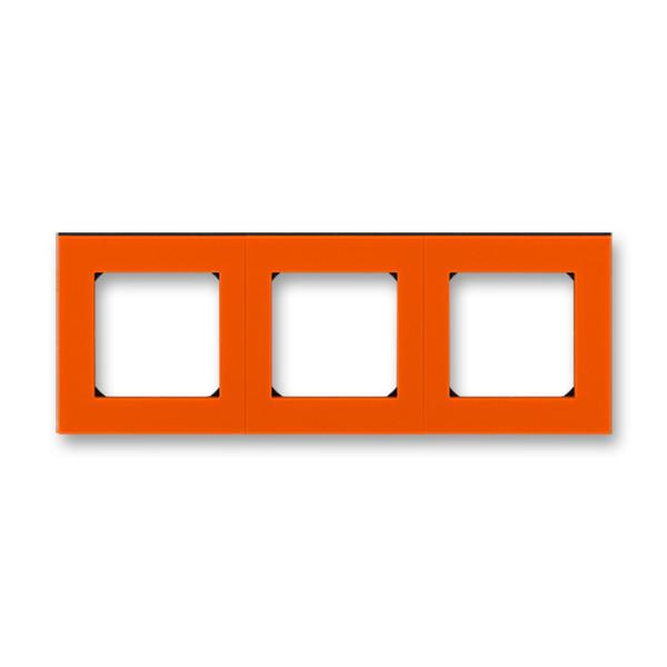 Рамка 3 постова, помаранчевий/димчастий чорний 3901H-A05030 66, Levit Elektro-Praga ABB