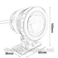 Светильник подводный для бассейна и фонтана WG-11 LED 10W 12V RGB пульт IP68 черный, фото 5