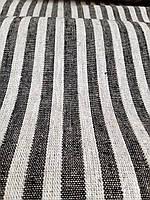 Льняная плотная ткань в тонкую полоску (шир. 50 см), фото 1