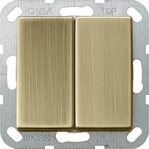 Двухканальный выключатель GIRA System 55 10 AX 250 В~ с клавишей, 0125 603 , 4010337106012