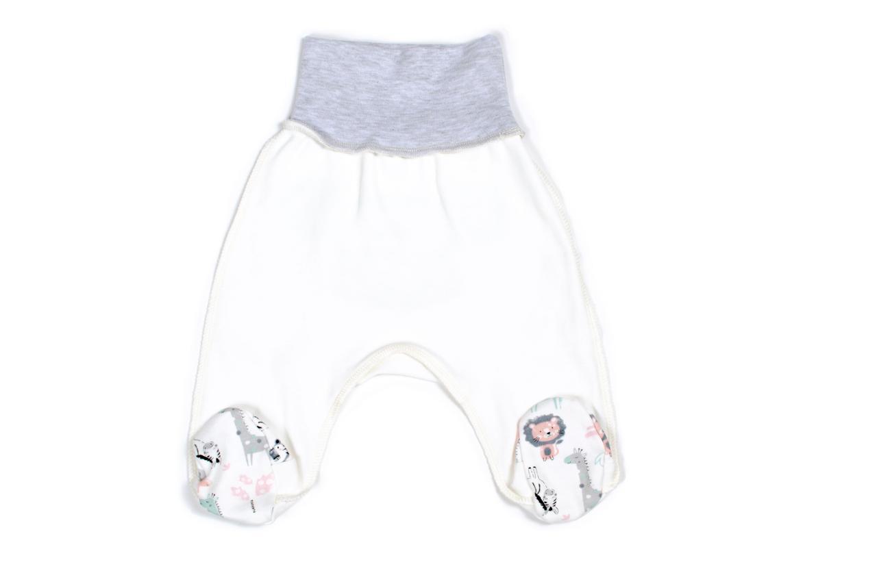 Ползунки для новорожденных Верес Crazy Zoo mint интерлок 50 молочный