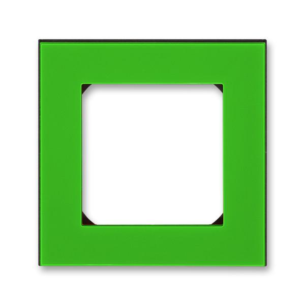 Рамка 1 постова, зелений/димчастий чорний 3901H-A05010 67, Levit Elektro-Praga ABB