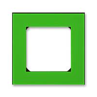 Рамка 1 постова, зелений/димчастий чорний 3901H-A05010 67, Levit Elektro-Praga ABB, фото 1