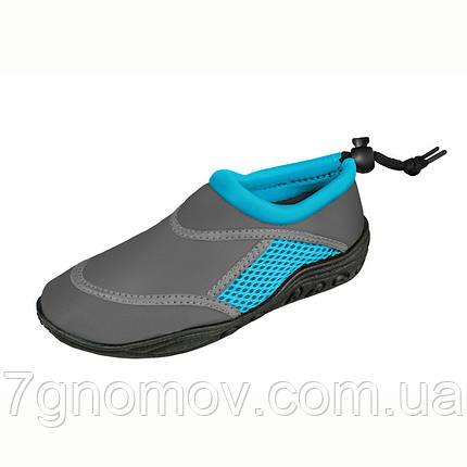Аквашузы, тапочки для кораллов, обувь для плавания, серфинга, сплавов Seashoes Blue/Grey, фото 2