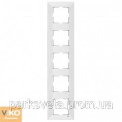 Рамка 5-я вертикальная Meridian (Белый)