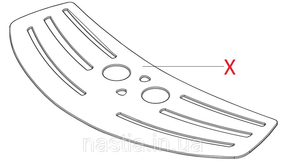 % P 11010389 Решітка піддону(пластикова), Talea Giro