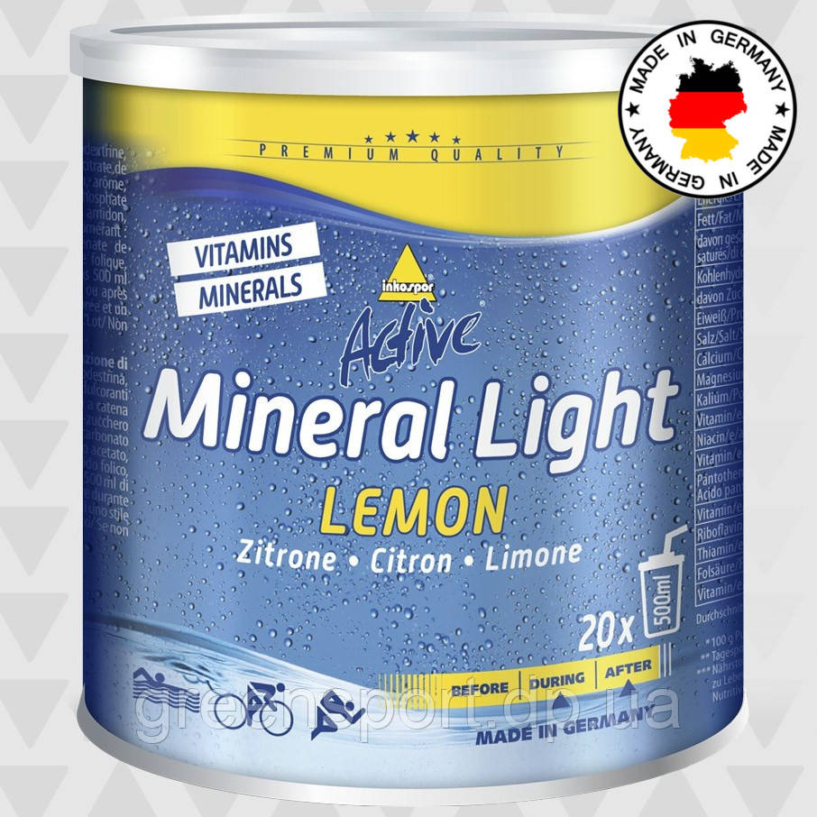 Изотоник Inkospor Active Mineral Light 330 г Лимон