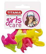 Зажим для волосся еластичний, 8 шт, рiзнокольоровий, 4 см. TITANIA 7828/SB GIRL